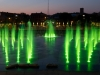 Washington Park Fountain Green Lights